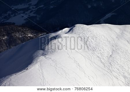 Top View On Off Piste Slope