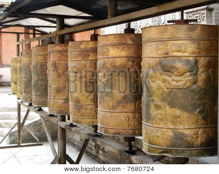 Some other Prayer wheels in Tar Lamasery