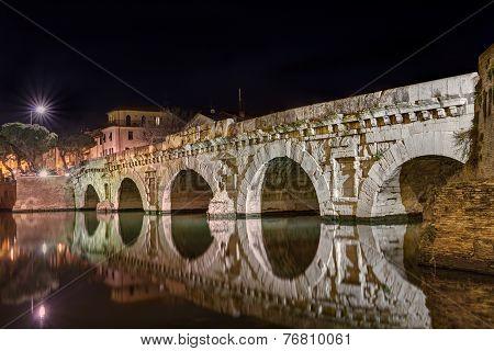Bridge Of Tiberius In Rimini, Italy
