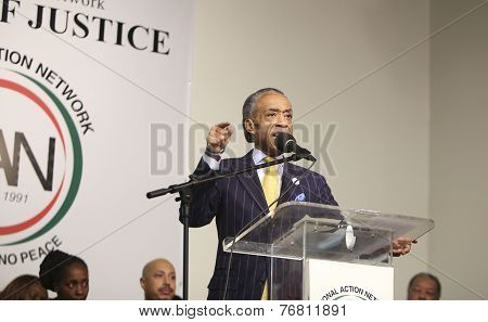 Rev Al Sharpton makes a point