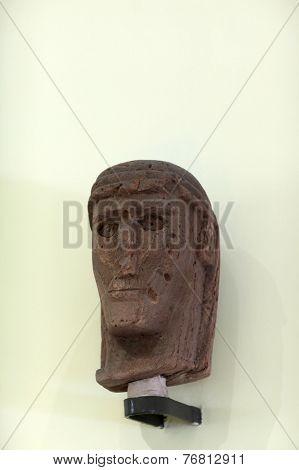Ancient Sculpture Head Of Man