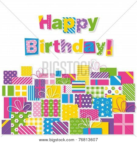 happy birthday presents greeting card