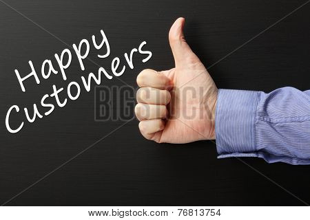 Thumbs Up for Happy Customers
