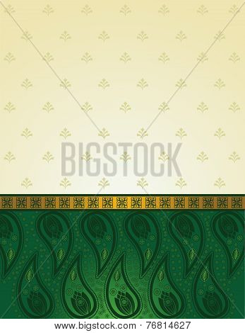 Green Indian saree background