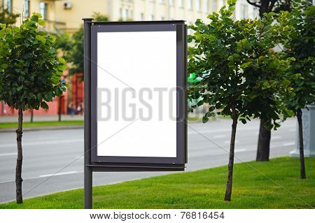 Blank Billboard On City Street