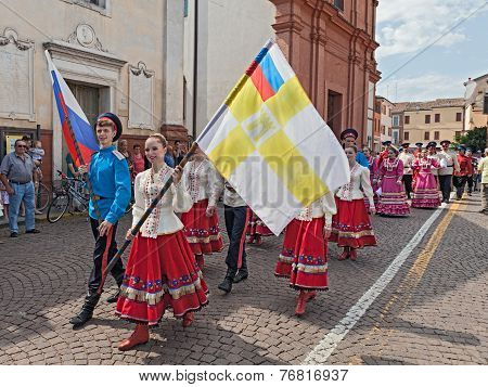 Street Parade Of The Russian Dancer