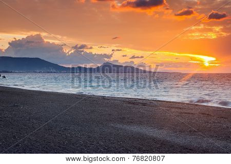 Rhodes Greece Sunset