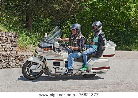 Bikers Riding Honda Goldwing 1500 6 Cylinder