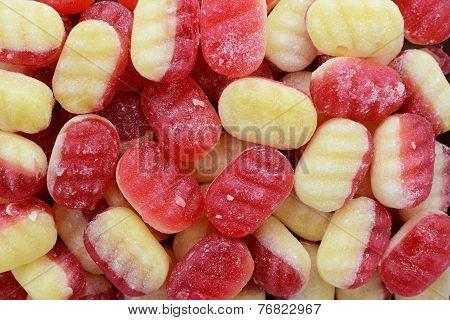 Traditional Rhubarb And Custard Candies
