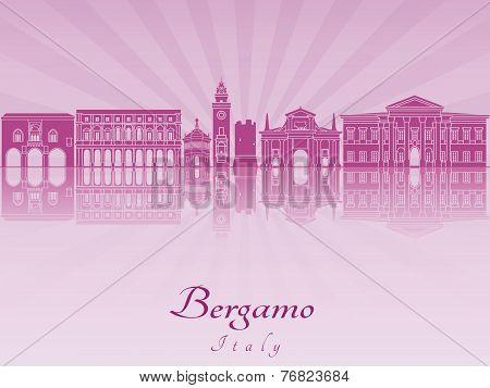 Bergamo Skyline In Purple Radiant Orchid