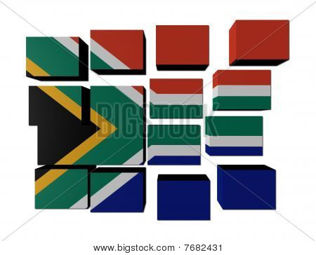 South African Flag on cubes