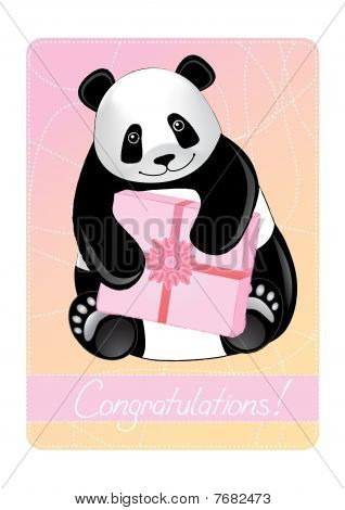 Greeting card of a panda.