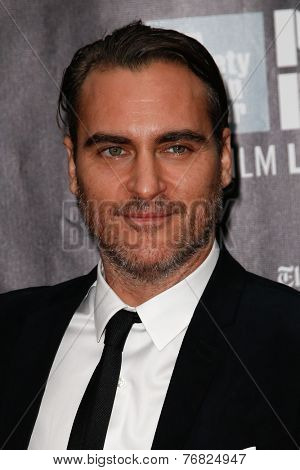 NEW YORK-OCT 4: Actor Joaquin Phoenix attends the 'Inherent Vice' Centerpiece Gala Presentation & World Premiere at the New York Film Festival at Alice Tully Hall on October 4, 2014 in New York City.