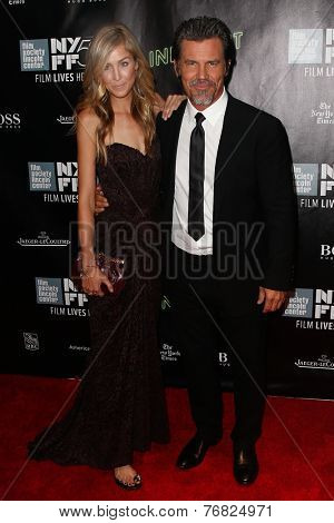 NEW YORK-OCT 4: Josh Brolin (R) & Kathryn Boyd attend the 'Inherent Vice' Centerpiece Gala Presentation & premiere at New York Film Festival at Alice Tully Hall on October 4, 2014 in New York City.