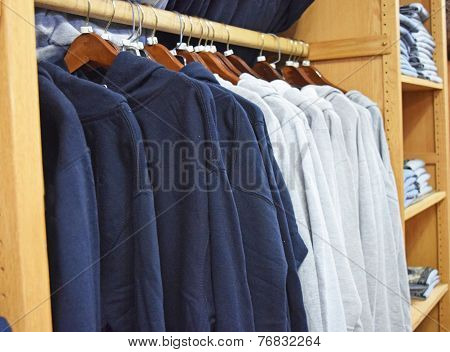 Sweatshirts in Retail Store