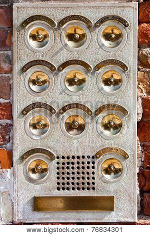 door bells in Venice, Italy