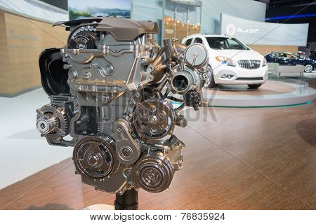 Buick Engine On Display