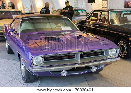 Plymouth Barracuda Convertible On Display