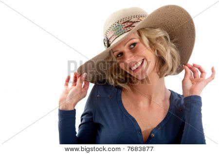 Summery Woman Smiling