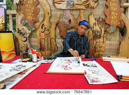 Vietnamese Calligrapher