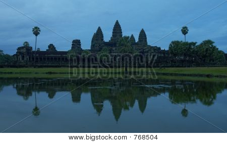 Angkor Wat as sunrise