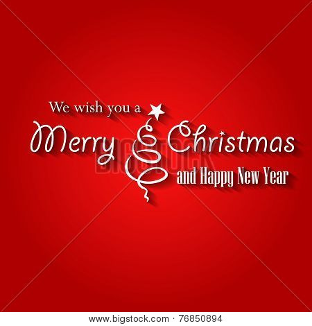 Merry Christmas label card