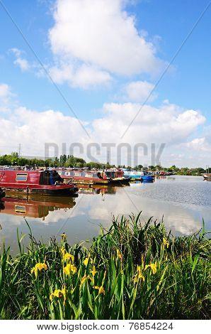 Boats in marina, Barton Under Needwood.