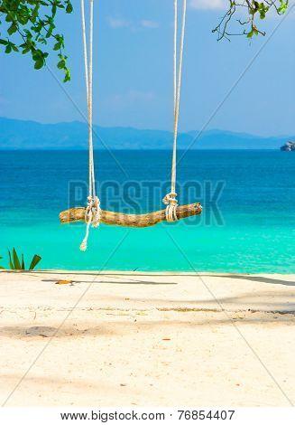 Wooden Seesaw Seaside Swing