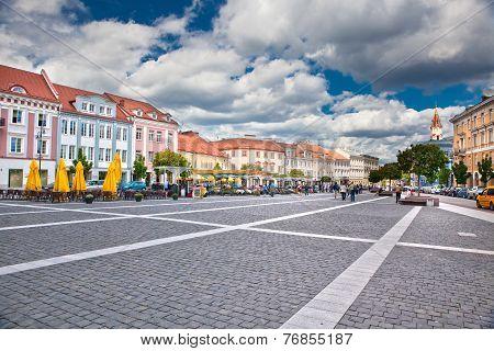 Town Square In Vilnius