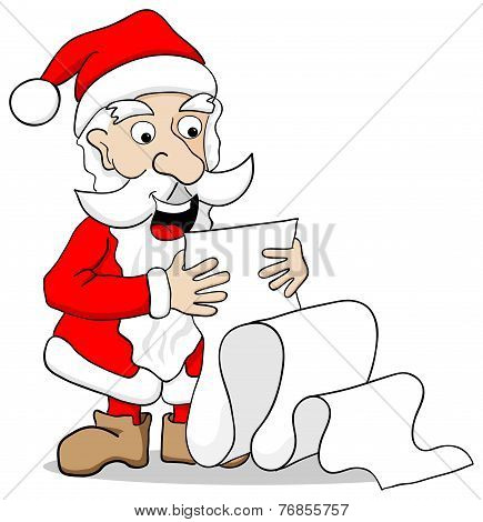 Santa Claus Reading A Long Wish List
