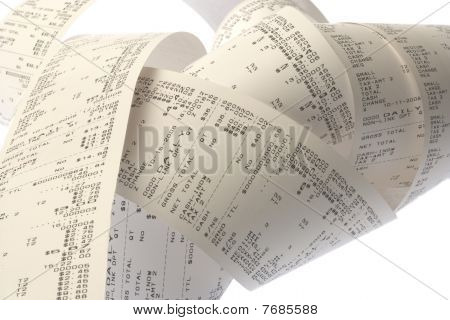 Roll Of Cash Register Tape