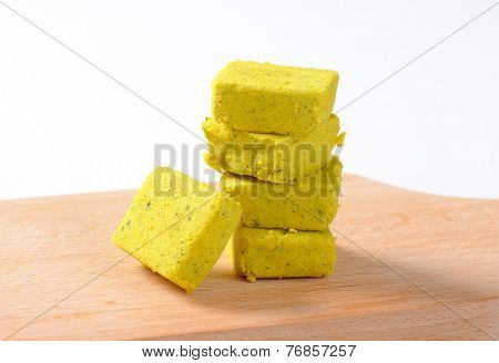 stacked cubes of herb bouillon