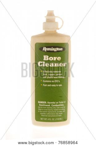 Hayward, CA - November 23, 2014: bottle of Remington Bore Cleaner