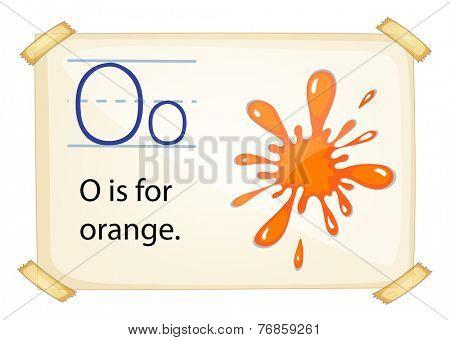 Poster of an alphabet O