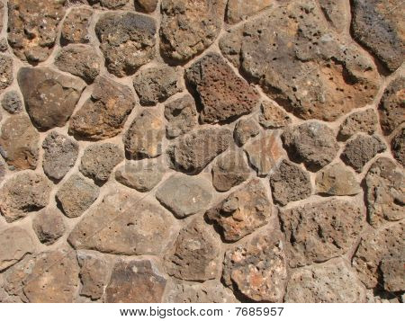 Basalt Rock Wall