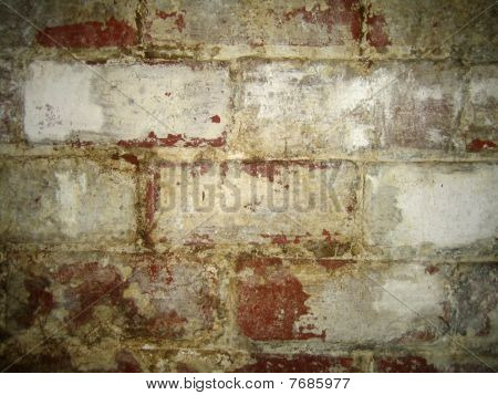 Water Damaged Brick Wall