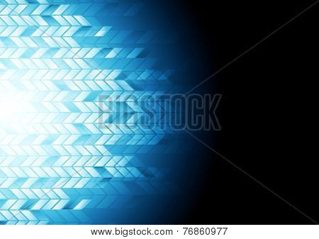 Hi-tech geometric dark blue background. Vector design