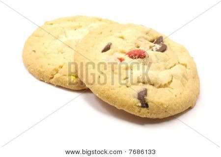 Two Candy Chocolate Cookies