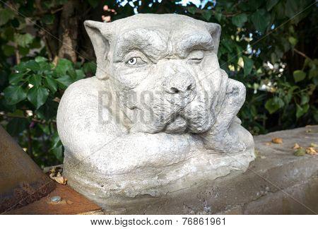 Sculpture of a dog