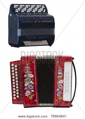 Image of accordion under the white background