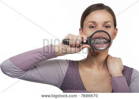 Magnified Teeth