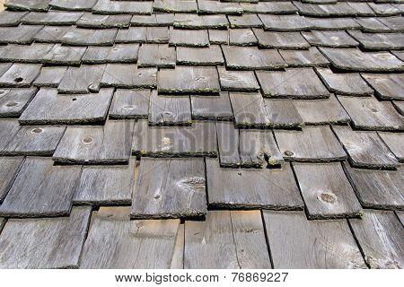 Old shingled roof
