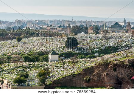 Islamic Cemetery In Fez, Morocco