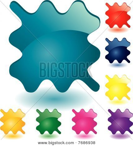 Colored glass buttons