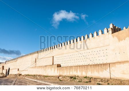 Ancient Wall  Of Fez, Morocco