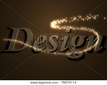 Design - 3D Inscription With Luminous Line With Spark