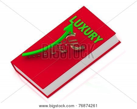 Luxury Book And Statuette Growing Golden Euro