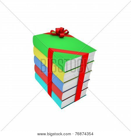 Stack Of Books With Bow