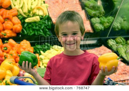 Boy at Grocery Store