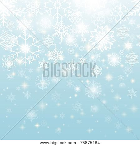 Beautiful Snowflakes in Seamless Pattern Design
